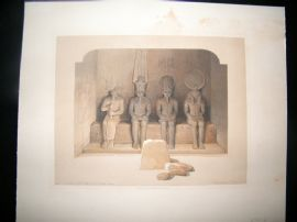 David Roberts Egypt 1846 Half Folio. Temple of Aboo-Simbel, Nubia. Print